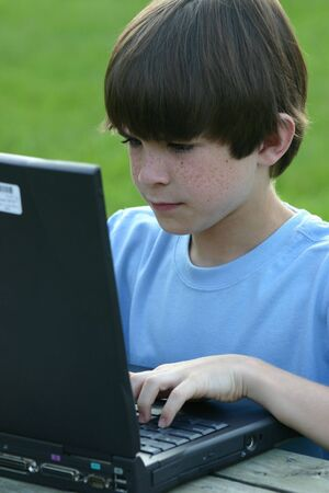 Boy using Laptop Stock Photo - 426388
