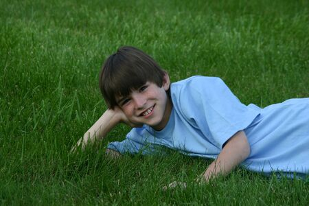 Boy in Grass Stock Photo - 456345