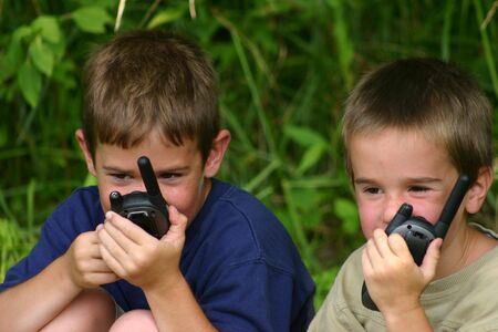 walkie: Two Boys on Walkie Talkies