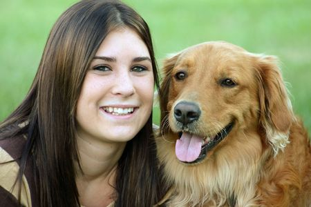 Girl with Dog Stock Photo - 527210