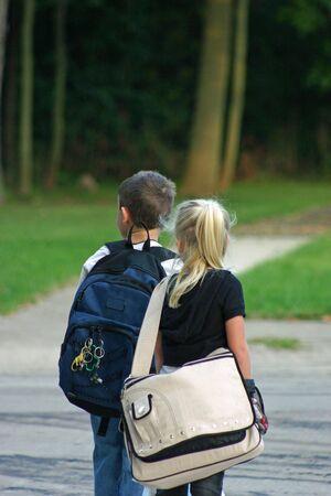 bus stop: Kids Waiting at Bus Stop