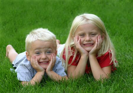 Young Boy and Girl Stock Photo - 538925