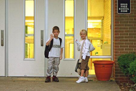 Los ni�os en la escuela  Foto de archivo - 561903