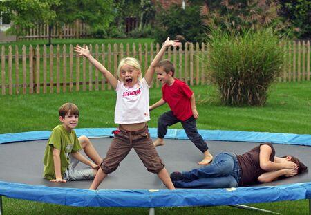 Kids on Trampoline photo