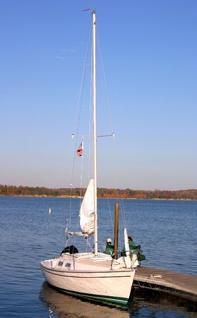 docking: Sail Boat Docking Stock Photo
