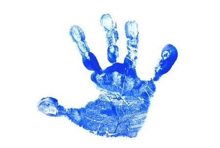Childs Hand Print Stock Photo