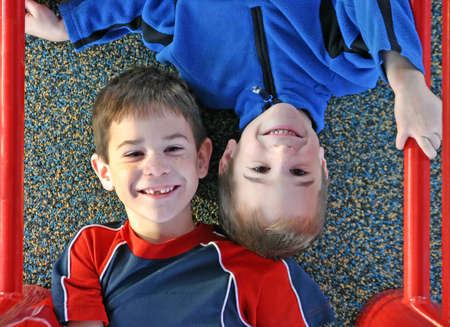 Two boys playing Stock Photo