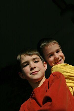 Boys on a Black Background Stock Photo - 752194