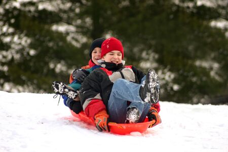 Boys Sledding photo