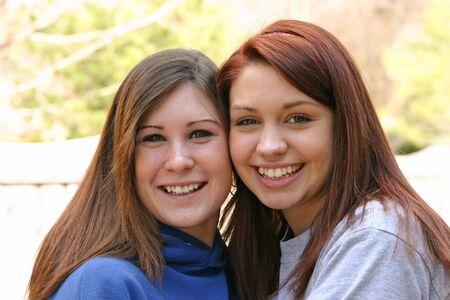 Two Teenagers Stock Photo