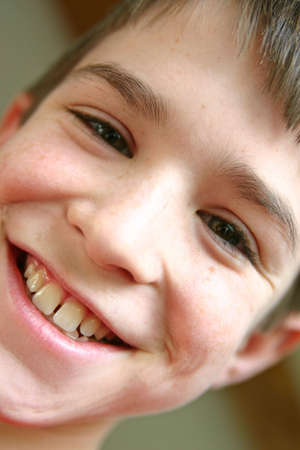 A close up portrait of boy smiling big Stock Photo - 841508