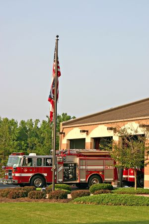 estacion de bomberos: Estaci�n de Bomberos  Foto de archivo