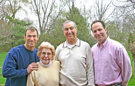 in loving memory: Family Portrait Stock Photo