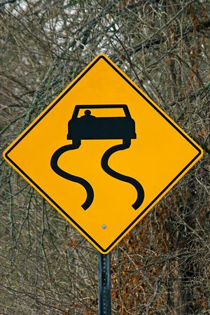 when: Slippery When Wet Sign