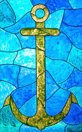 stained glass windows: Anchor Stock Photo