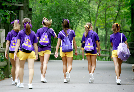 porrista: Grupo de Cheerleaders  Foto de archivo