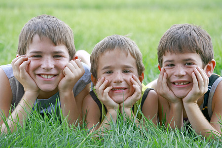 Three Boys   Stock Photo - 1716475