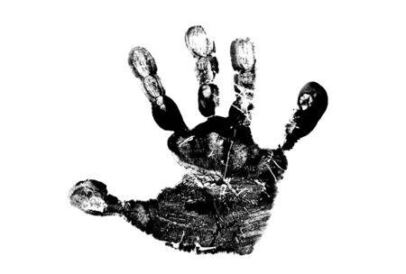 handprints: Childs handprint Stock Photo