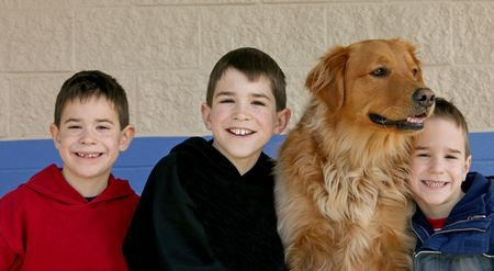 Boys and the Dog Stock Photo - 1770535