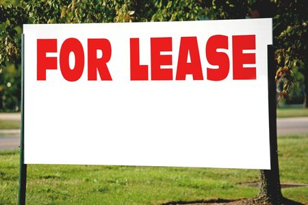 rental: Blank For Lease Sign