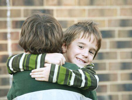 Boy Giving a Hug Stock Photo - 1815781