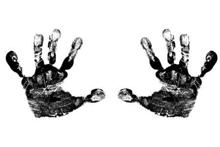 黒の子供の手形