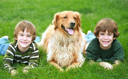 Boys and the Dog Stock Photo - 1876056