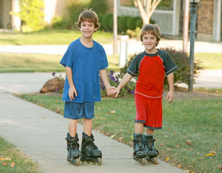 Boys Rollerblading Stock Photo - 1942590