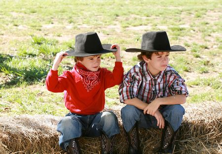red bandana: Cowboys