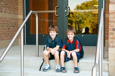 Chicos en la Escuela  Foto de archivo - 2083815