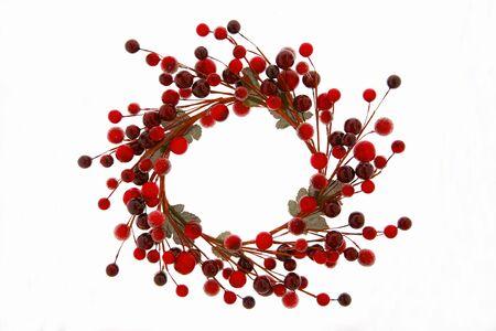 coronas navidenas: Berry corona de Navidad
