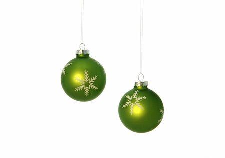 Green Christmas Bulbs