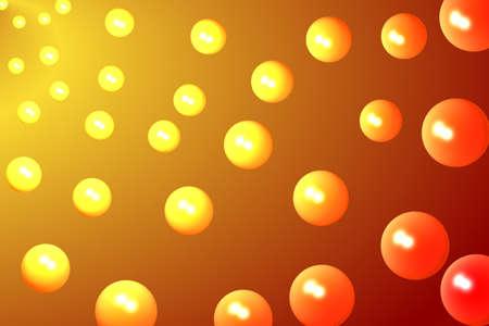 image size: Orange Bubbles