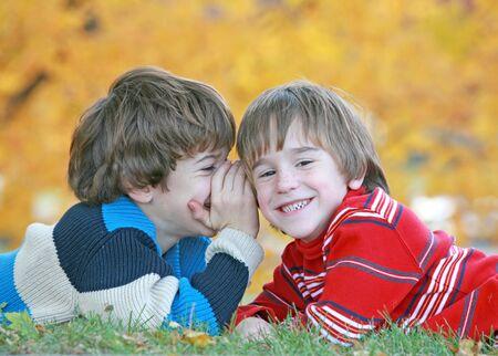 Boys Telling Secrets  photo
