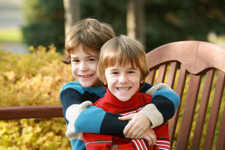 Brothers Hugging Stock Photo - 2590321