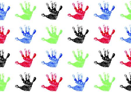Children's Hand Prints Stock Photo - 2633035
