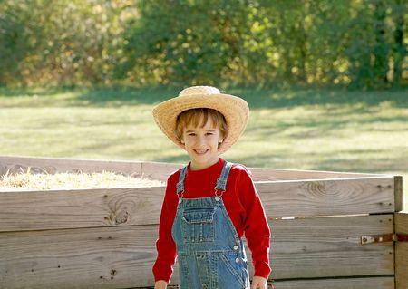 Little Farmer Banque d'images