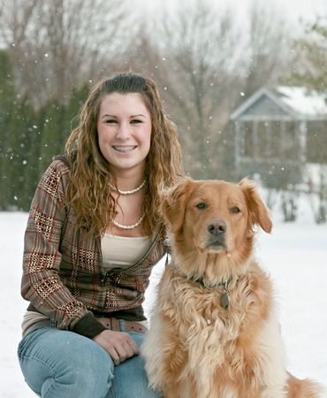 Teenager and Dog Stock Photo - 2710097