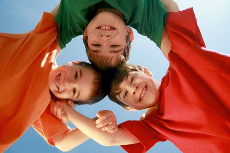 Kids Huddling Stock Photo - 2848158