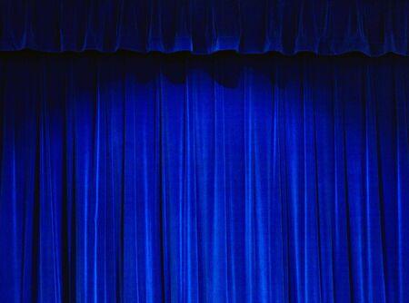 sipario chiuso: Blu Teatro Tenda  Archivio Fotografico