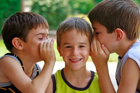 Boys Telling Secrets Stock Photo - 3019810