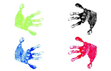 Children's Hand Prints Stock Photo - 3072702