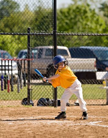 Little Boy Up to Bat