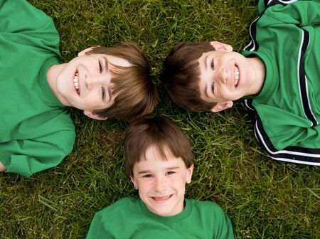 Three Brothers in Green Stock Photo - 3160049