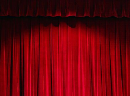 curtain theater: Red cortina de teatro