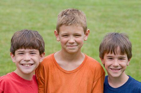 Three Little Boys Smiling