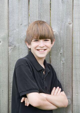 Teenage Boy With Big Smile photo