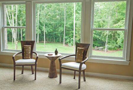 Interior Setting By Window Showing Outside View