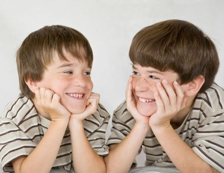 teen boy face: Boys Laughing Together