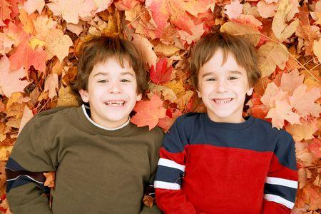 Visages d'automne Banque d'images - 3365502